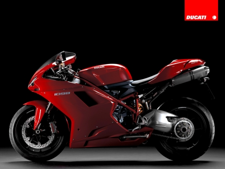 Ducati 1098 rojo lateral