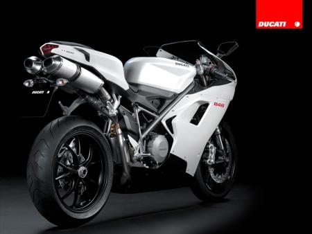 Ducati  848 blanco trasera