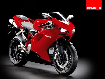 Ducati 848 rojo