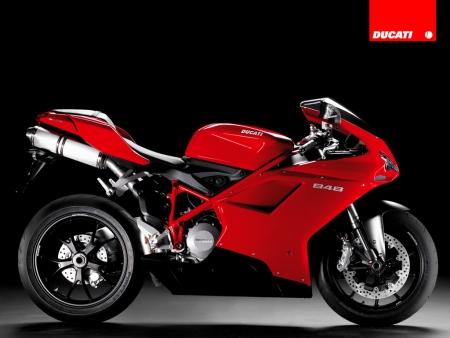 Ducati 848 rojo lateral